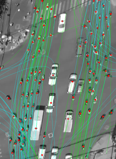 Traffic data - trajectories of scooter riders at an intersection in Vietnam