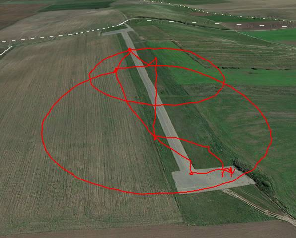 UAV trajectory projected onto ground