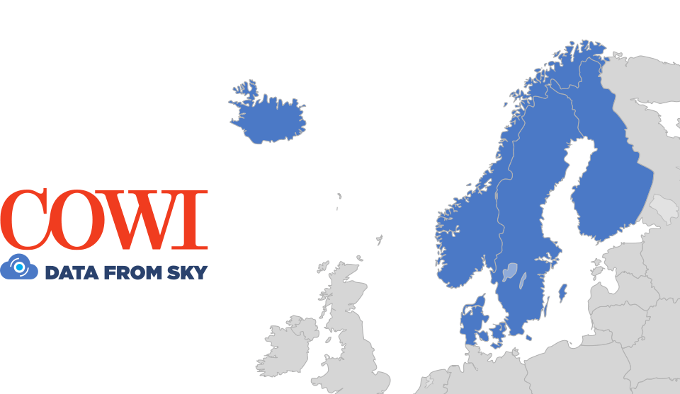 Datafromsky partnership with cowi in nordic countries datafromsky countries for exclusive partnership gumiabroncs Gallery