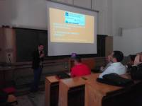 Andrea Marella talking at seminar in Trieste