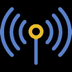 antenna modrá užší