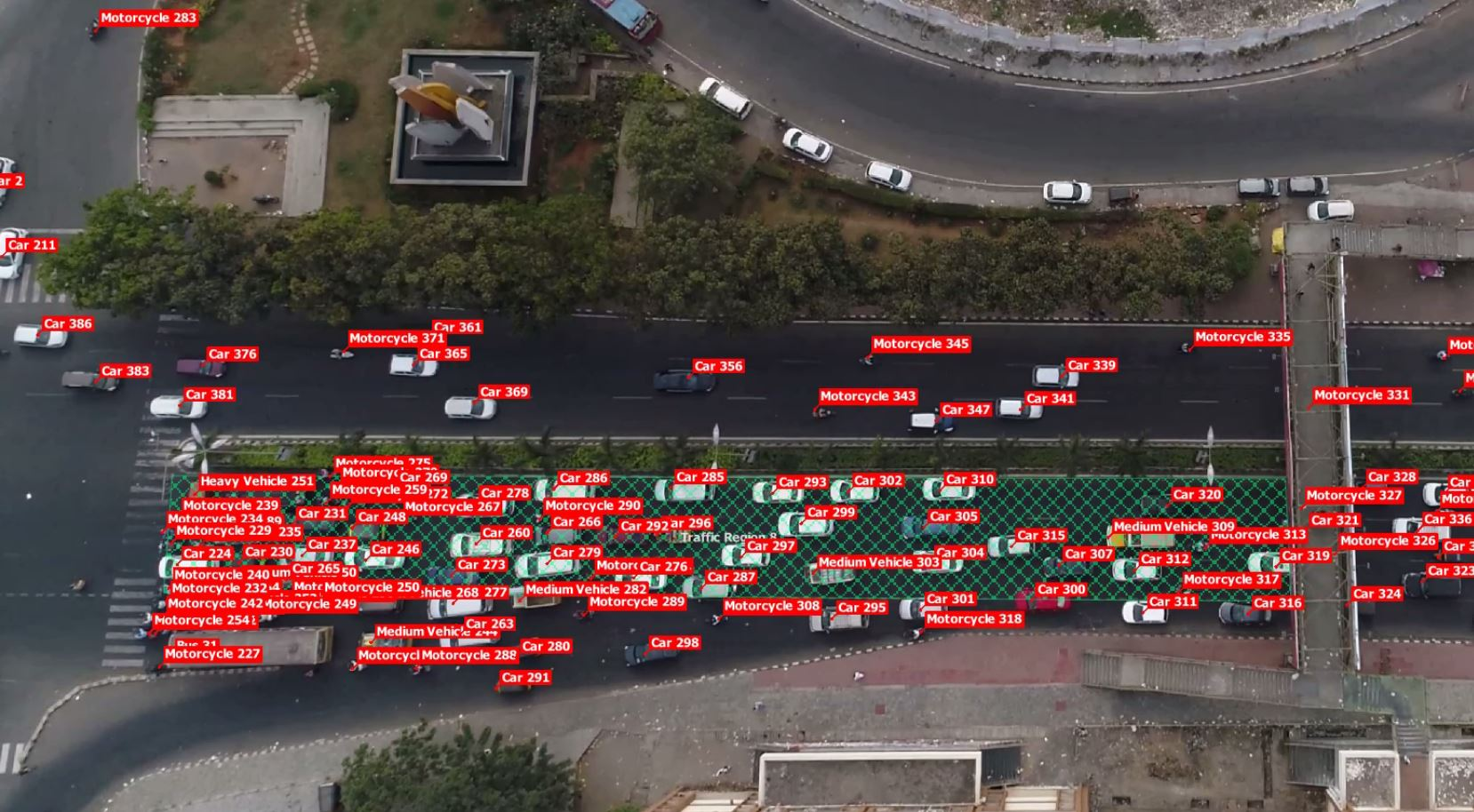 TrafficFlow screen